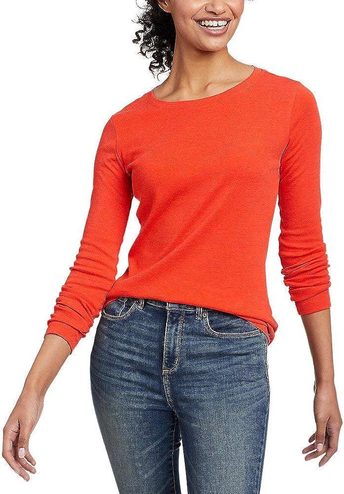 Eddie Bauer Women's Favorite Long-Sleeve Crewneck T-Shirt Flame 3X