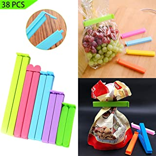 Radical 8 38Pcs Sealing Clips for Food - 4 Sizes Bag Clips for Snack Bags, Food Fresh-Keeping Clamp Sealer, Chip Clips