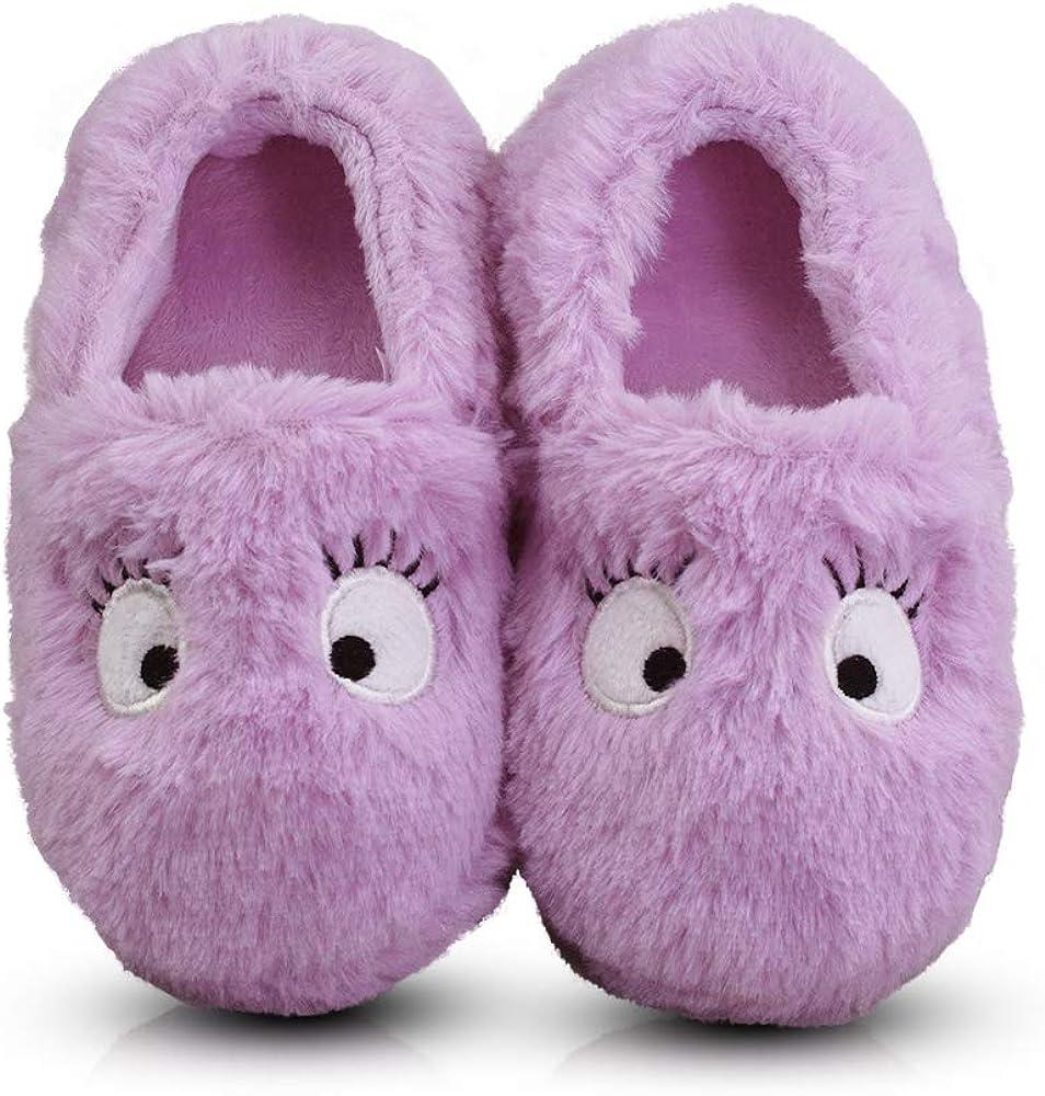 LA PLAGE 25% OFF Little Kid Manufacturer direct delivery Winter Warm Plush Cozy Indoor Slippe Slip-on
