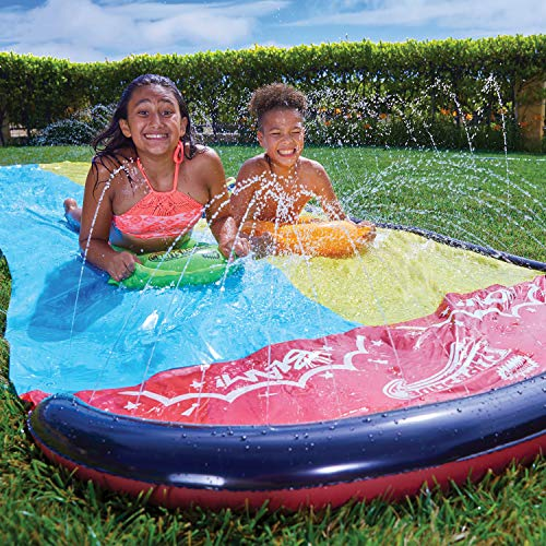 Wham-O-64120 Slip and Slide Double Wave Rider con boogies, Multicolor (64120)