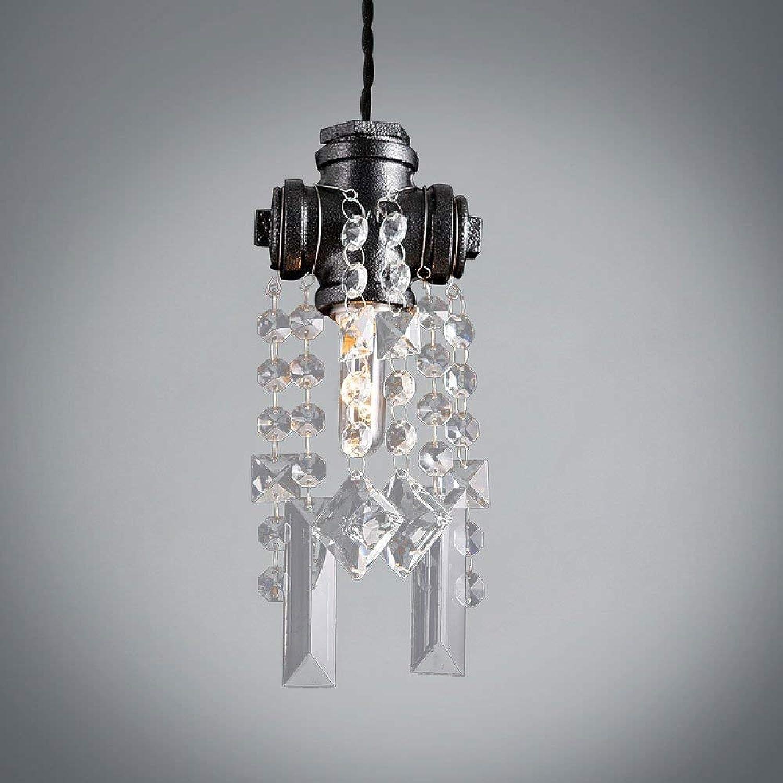 SPA  Atmosphrische Eisenkristallleuchter Kreative Europische Retro Wasser Kronleuchter Villa Duplex Boden Wohnzimmer Restaurant Anhnger Kette  2000mm (Einstellbar)