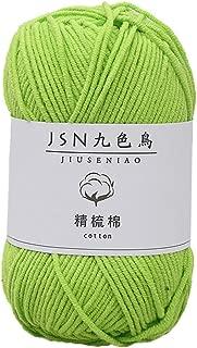 Fan-Ling 1PCS 50g Milk Cotton,4 Strands Baby Line DIY Doll Cotton Thread Crochet Baby Wool,Assorted Colors Smooth DIY Hand Knitting Baby Craft Shawl Scarf Crochet Thread Supplies (Y)