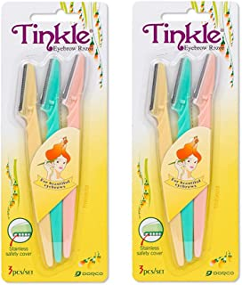 Tinkle Dorco Eyebrow Razor, Hair Trimmer Shaver and Tough Up Tool, Facial Razor with..