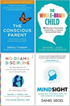 The Conscious Parent, The Whole Brain Child, No Drama Discipline, Mindsight 4 Books Collection Set