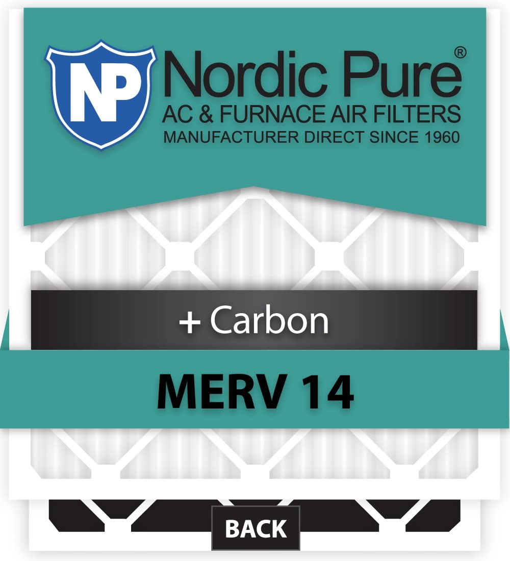 Nordic Pure Beauty products 16x22x1ExactCustomM14+C-12 MERV 40% OFF Cheap Sale 14 Carbon + AC Furna