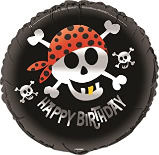 "Unique Pirate Fun Happy Birthday Foil Balloon, Multi, 45cm (18"")"