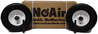 NoAir (2) Exmark Flat Free Wheel Assemblies Fits Lazer Z 13x5.00-6 Part 1-633582