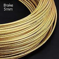 3メートル5ミリメートルMTBロードバイク自転車ブレーキディレイラーケーブル編みラインパイプ推進管式スピードブレーキワイヤーをシフト (Color : Brake Gold)