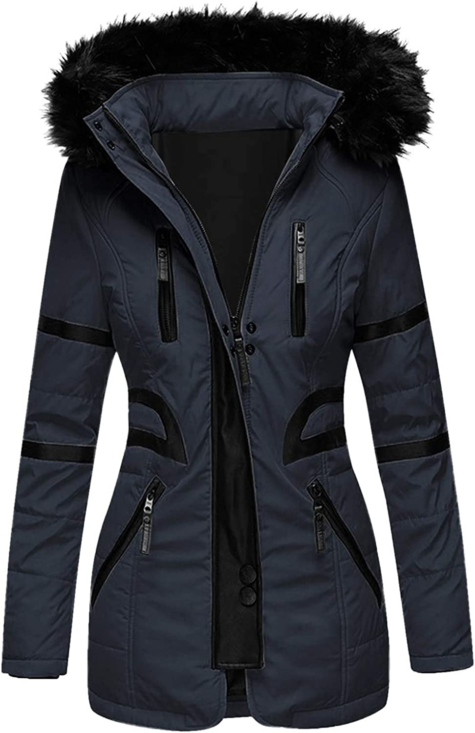 Limited price sale HGWXX7 Womens Overcoat Fashion Oversized Up Jacket Zip Max 78% OFF Parka wit