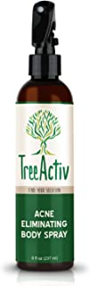 TreeActiv Acne Eliminating Body Spray | Natural Body, Back, Butt, Chest and Shoulder Acne Treatment | Salicylic Acid | Tea Tree | Aloe | Witch Hazel | Menthol | Mint | 8 fl oz