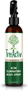 TreeActiv Acne Eliminating Body Spray, Natural Body, Back, Butt, Chest and Shoulder Acne Treatment, Salicylic Acid, Tea Tree, Aloe, Witch Hazel, Menthol, Mint, 8 fl oz