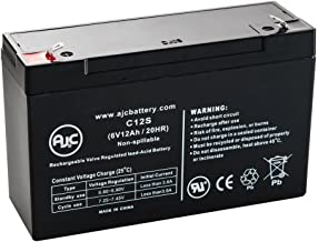 Genesis NP10-6T, NP 106T .250 6V 12Ah UPS Battery - This is an AJC Brand Replacement