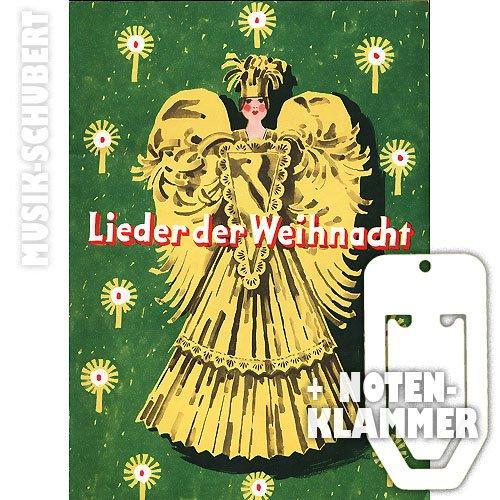 """Breitkoft & Härtel - Libreto de partituras """"Lieder der Weihnacht"""": villancicos alemanes para piano y 2 voces (con 100 canciones navideñas de, entre otros, Fidelio F. Finke, Diethard Hellmann, Siegfried Köhler; formato de bolsillo, incluye pinza para sujetar la página)"""