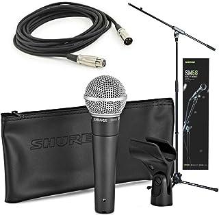 Shure SM58 Quality Bundle - Micrófono con cable XLR y varilla de jirafa