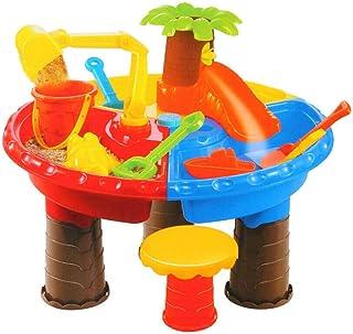 砂と水テーブル、ビーチ砂のおもちゃセット、子供のための砂遊びテーブル