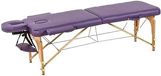 طاولة سرير التدليك المحمولة من HIZLJJ ، 2 قسمين، إطار خشبي كبير محمول لطاولة التدليك والأريكة الجميلة