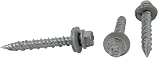 #10 x 1-1/2 Hex Washer Head Metal Roof Screw(Multiple Sizes in Listing) Self Starting/self Tapping Metal to Wood, Sheet Metal Roofing, siding Screws with EPDM Washer Seal. 100 PCS (#10 x 1-1/2