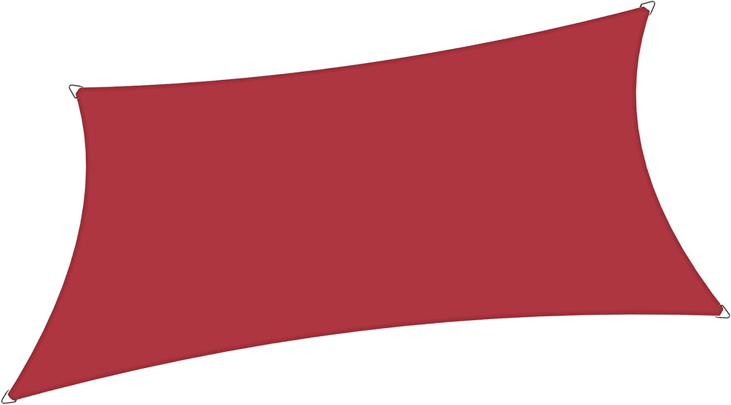 Alion Home 6' x 10' Rectangle Waterproof Polyester Woven Sun Shade Sail (1, Burgundy Red)