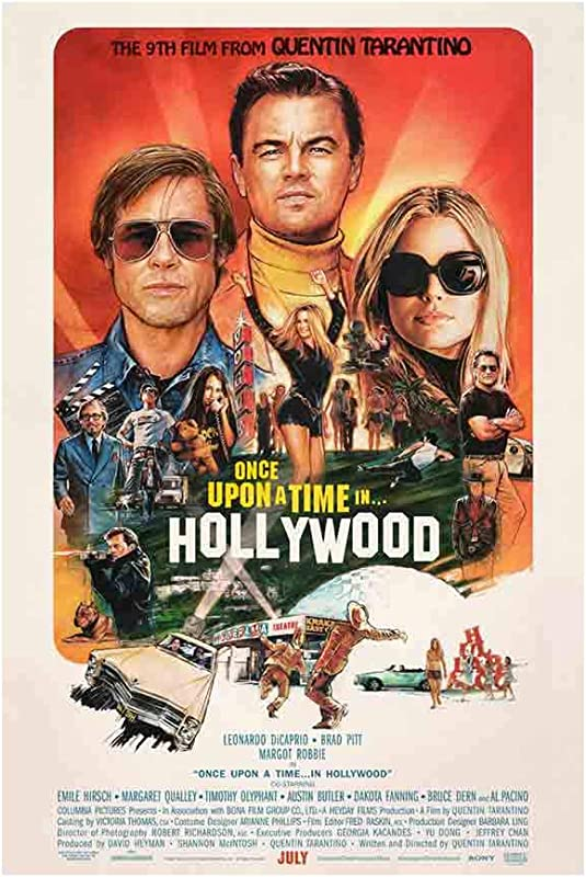 Once Upon A Time In Hollywood Movie Poster Size 24 X36 This Is A Certified Poster Office Print With Holographic Sequential Numbering For Authenticity