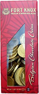 Fort Knox Gold Tone Foil Wrapped Belgian Milk Chocolate Coins, 1 Pound
