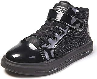 88d4cd2a874 Niños Botas de Invierno Zapatos Casuales de Cuero Niños Chicas Moda Deportes  Niños Zapatos de Goma