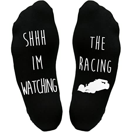Watching The Racing Sole Socks Funny Joke Gift Idea Car Racing Dad Father's Day