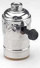 Leviton 7090-NI Medium Base Complete, Aluminum Shell Incandescent Lampholder, Removeable Turn Knob, Nickel