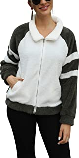 Legou Women's Warm Faux Fur Bomber Jacket Coat