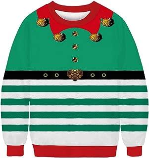 Men Ugly Christmas Sweater Funny Sweatshirt Long Sleeve Pullover 3D Print O-Neck Long Sleeve Casual Shirt