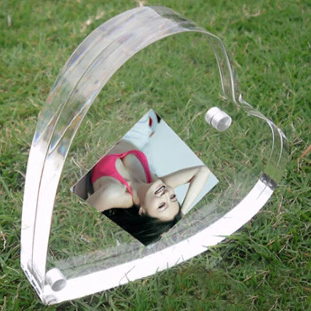 Modern Heart Style Lucite Magnetic Photo Framing half Picture Limited price Holder