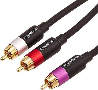 AmazonBasics 1-Male to 2-Male RCA Audio Cable, 8 Feet