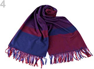 1pc Bordeaux Blue Scarf/Shawl with Fringes, Winter Shawls and Snoods, Shawls, Scarves &, Fashion Accessories