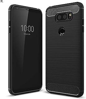 ZYZX LG V30 Case,LG V30 Plus Case Shock Absorption LG V30 Phone Case Slim TPU Cover Flexible Bumper Carbon Fiber Protectiv...