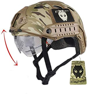 ATAIRSOFT PJ Type Tactical Fast Helmet w/Protective Goggles Version Multicam