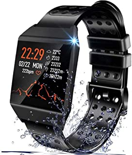 Smart Watch Compatible with iPhone and Android Phones, IP67 Waterproof, Fitness Tracker Watch...