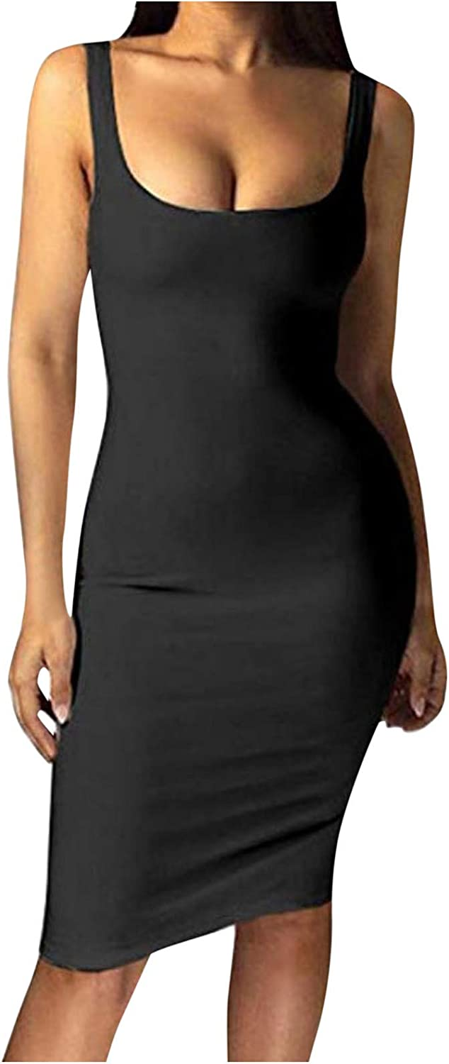 JUNLIN A surprise price is realized Wrap Dress for Women B Special Campaign Bodycon Tank Sleeveless Sexy