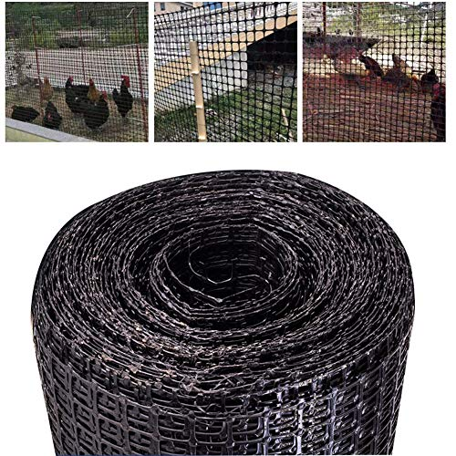 LJIANW Plastic Fencing, Green Fencing Mesh 50m Lightweight Polypropylene Balcony Safe Net For Garden Fences, Sports Events, Barricades, Dog And Pet, 3x3cm (Color : 0.9MM, Size : 1.2X50M)