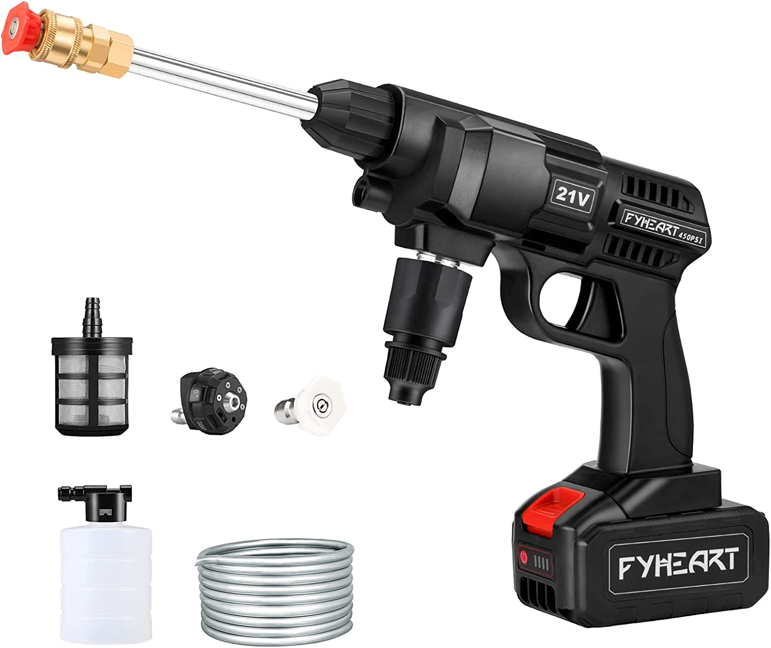 Cordless sale safety Pressure Washer,450PSI Ha Portable Washer