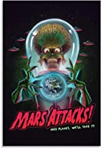 Movie Poster Mars Attacks Poster Decorative Painting Canvas Wall Art Living Room Posters Bedroom Painting 12x18inch(30x45cm)