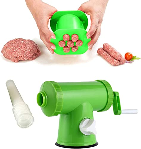 wholesale Manual Meat Grinder Sausage Filler Tool Kit, Hand Operated Sausage Stuffer Maker, Meat Grinder Stuffer Filler Kit, Hot Dog high quality Meat Strip Squeezer, Sausage Mince Food Maker Tool with outlet sale Filling Nozzles sale