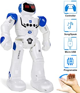 Remote Control Robots for Kids, 2020 Smart Programmable Robot Toys - Infrared Sensing & Gesture Controller, Singing Dancing Toy for 3 4 5 6 7 8 9 10 11 12 Year Old Boys Girls Christmas Birthday Gift