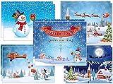 Juego de 10 tarjetas de Navidad: 5 diseños diferentes...