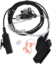 3' 2-Wire Coil Covert Acoustic Tube Earpiece Headset Mic Compatible for Motorola XTS5000 HT1000 GTX XTS 2500 3000 3500 5000 HT1000 HT2000 Acoustic Tube Headset, Noise ReductionTwo-Way Radio