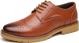 ビジネスシューズ メンズ 本革 紳士靴 外羽根 レースアップ革靴 ウイングチップ ブローグ