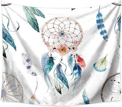 JTGTQ Tapiz /Tapiz Mandala Colgante de Pared Hippie Boho Tapiz de Pared Abstracto Color Tapicer/ía de Tela Alfombra