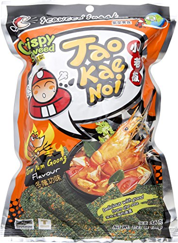 Tao Kae Noi Crispy Seaweed Tom Yum Goong, 1.27 oz (Pack of 6)