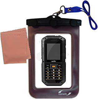 outdoor Gomadic waterproof carrying case suitable for the Sonim XP2 10 Spirit to use underwater - keeps device clean and dry