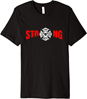 Firefighter Logo Fire Fighter Sayings Thin Red Line VFD Gift Premium T-Shirt