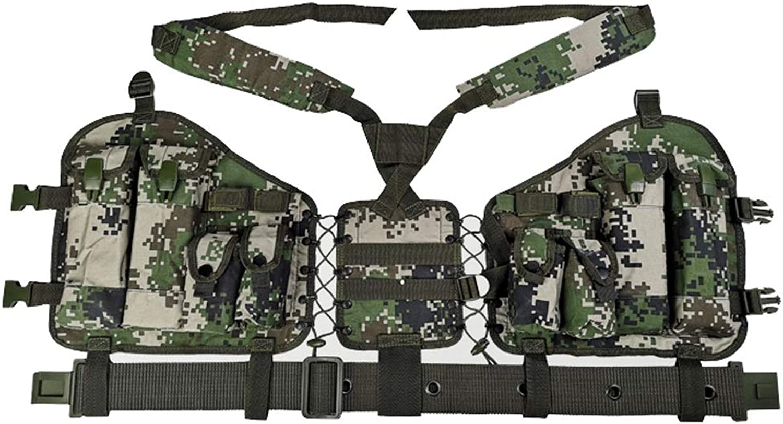 GRZP Tarnen Sie Taktische Weste, einzelne Soldatentrageausrüstung-Meer-und Luftwaffe, die Kampf-Weste 95-Kugel-Beutel-Außentrainings-Spezialeinheiten trägt B07NWKVRJ8  Geeignet für Farbe