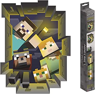 Trends International Minecraft Caved in – ROOMSCAPES Poster Decal 18×24, Multicolor